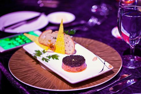 Wild salmon tartare with imperial caviar, by Joel Robuchon