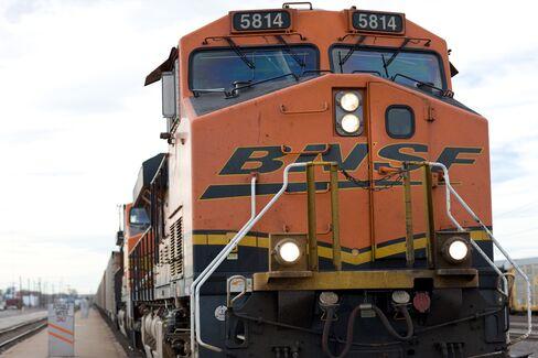 A BNSF Railway Train Stops in La Junta