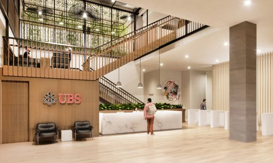 WeWork Will Renovate UBS Office in Its Biggest Design Deal