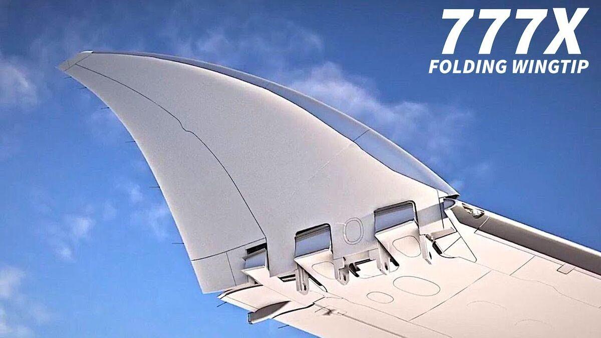 Resultado de imagen para BOEING 777-8 9 FOLDING WINGS