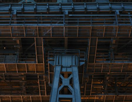 A view from below the Williamsburg Bridge. (Shot at 1min 31sec, f/19, and 400iso.)