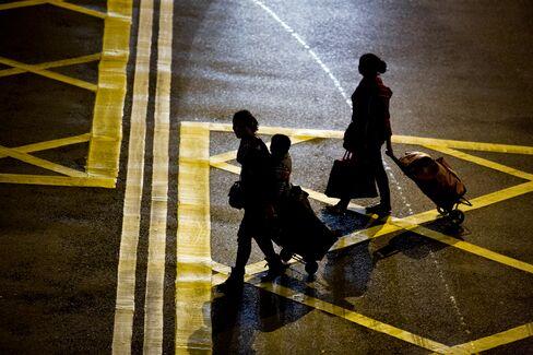 Passengers at Sheung Shui Train Station