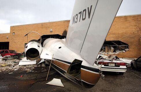 A crash at Teterboro AirportinNew Jersey on Feb. 2, 2005.