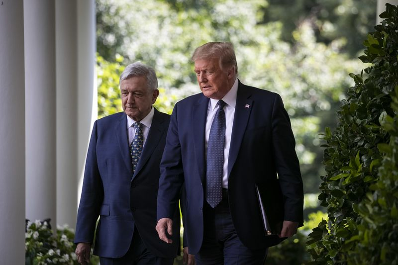 President Trump Hosts Mexican President Andres Manuel Lopez Obrador At White House