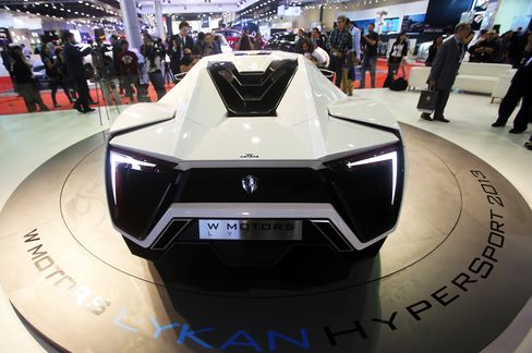 The Lykan HyperSport premieredat the International Dubai Motor Show in 2013. Top speed is 239 mph, with a 0 to 60 sprint time of 2.8 seconds. The caris rumored to have diamond and titanium accents in its headlights. Price: $3.4 million.