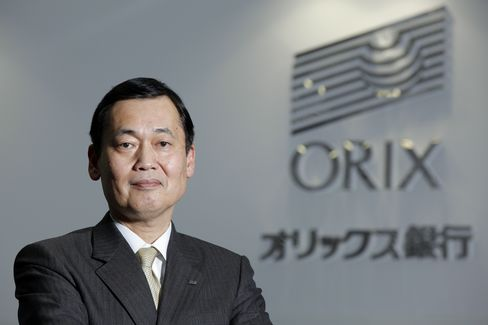 Orix Bank President Akio Ushio