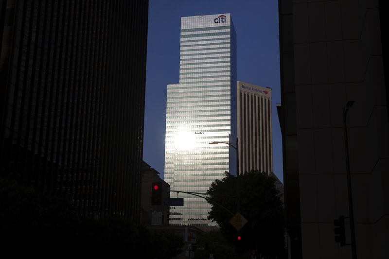 A Citigroup Inc. Bank Office Building Stands In Los Angeles, California.