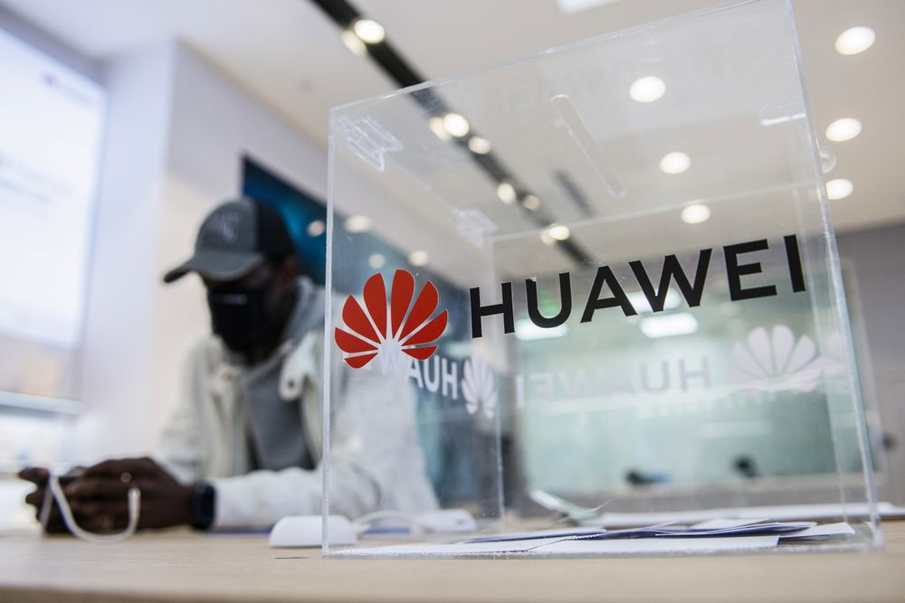 A Huawei store in Pretoria, South Africa.