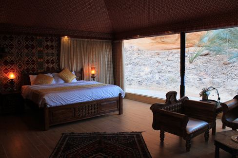 Master bedroom in the royal suite at Shaden.