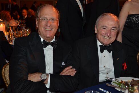 Larry Fink and Bill Bratton. Photographer: Amanda Gordon/Bloomberg