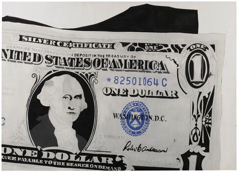 """Warhol's 1962 """"One Dollar Bill (Silver Certificate)"""""""