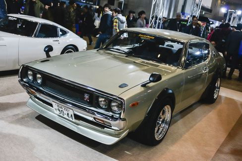 A vintage Nissan Skyline GTR is seen at the Tokyo Auto Salon 2015 at Makuhari Messe on January 9, 2015 in Chiba, Japan.