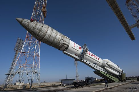 The Proton rocket that will launch the ExoMars 2016 spacecraft to Mars