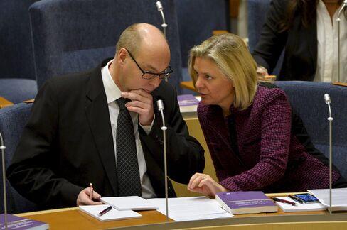 Sweden's Finance Minister Magdalena Andersson