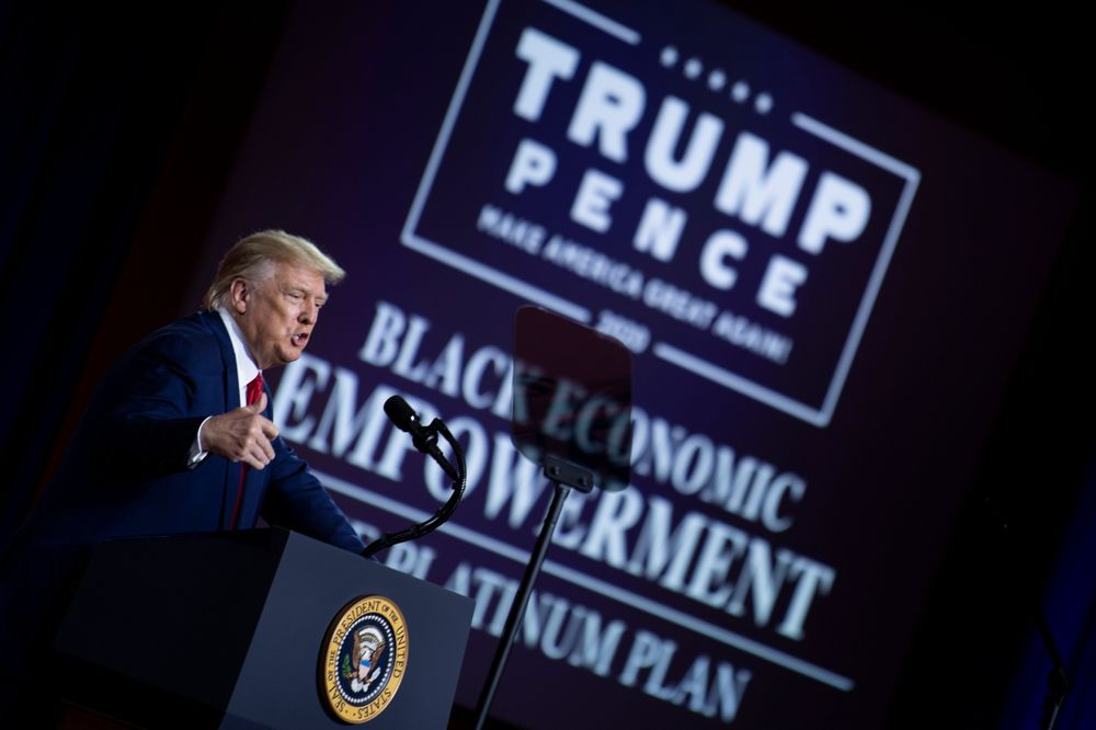 Trump Releases a 'Platinum Plan' for Black Voters - Bloomberg
