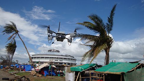 Sky-Watch's weatherized drone was used to assess Typhoon Haiyan's damage