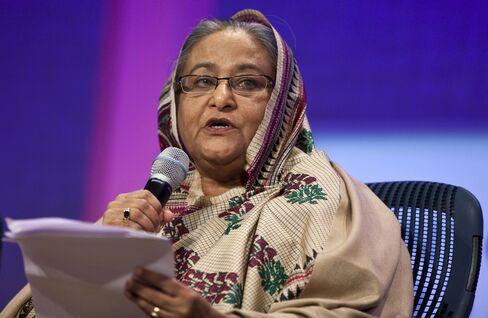 Bangladesh's Prime Minister Sheikh Hasina Wajed