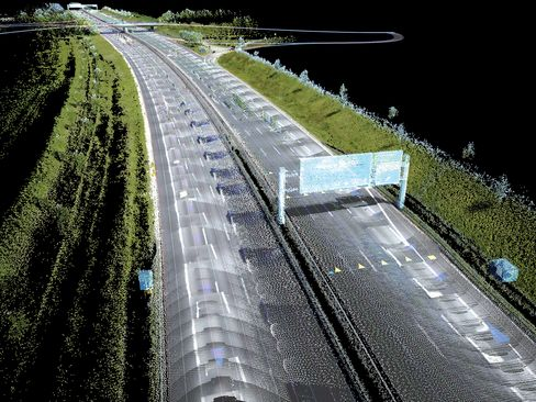 Here captures billions of 3D points to model the surface of a road, which helps guide self-driving and autonomous vehicles.