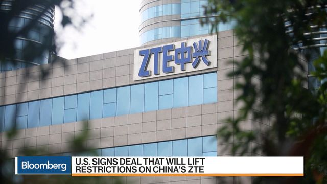 U.S. Signs Deal That Will Lift Restrictions on China's ZTE