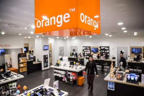 Inside An Orange SA Phone Store As Frances Biggest Mobile Carrier Considers Buying Bouygues SAs Phone And Television Businesses