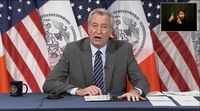 relates to New York Mayor De Blasio Says There's Not One Cause for Uptick in Violence