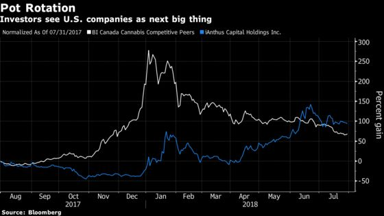 Once-Iffy U.S.-Focused Pot Stocks Are Becoming Investor Darlings
