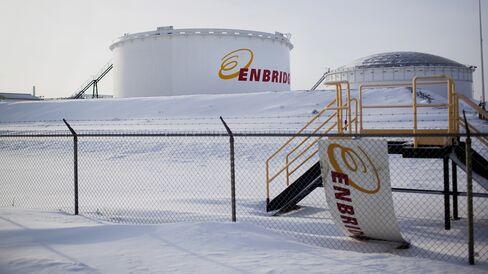 Enbridge fuel depot in Canada.