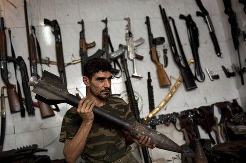 Syrian Gun Shop Owner Abu Mohammad