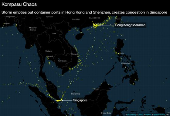 Wild Weather Sparks Ship Backlog From Shenzhen to Singapore
