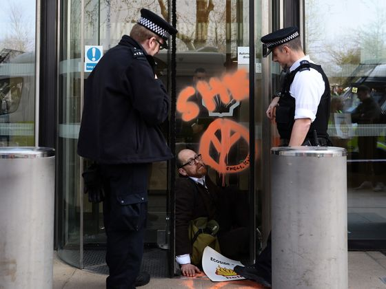 Shell's London Headquarters Vandalized by Climate Protesters
