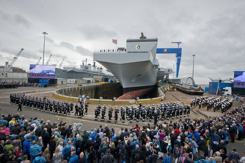 Crowds Attend the HMS Queen Elizabeth Naming Ceremony