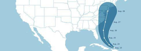 Irene Heads for North Carolina, New England
