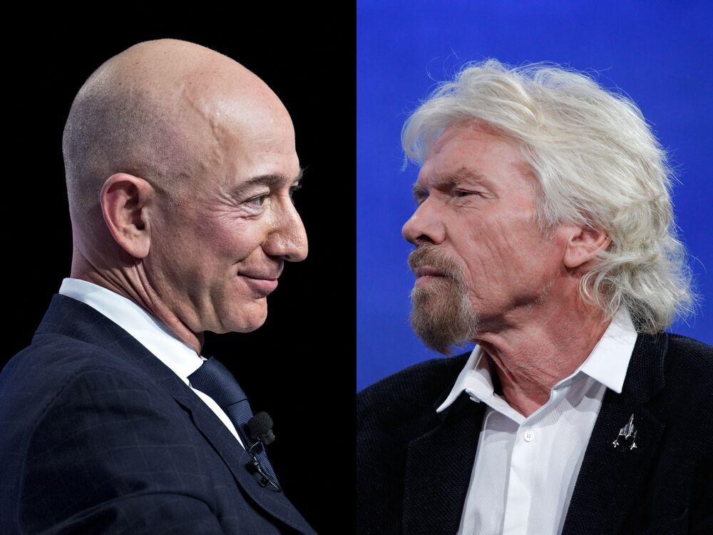 Richard Branson vs Jeff Bezos: Who Wins the Billionaire Space Race? -  Bloomberg