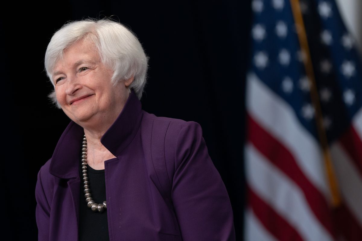 Yellen Says U.S. Economy Well on the Way to Post-Covid Recovery