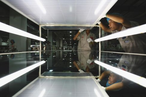 China Panel Makers Turn Solar Farmers to Counter Glut