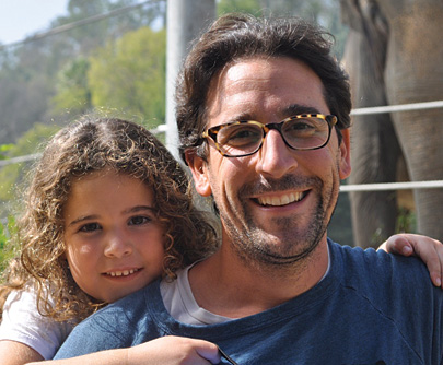 Steve Nakash with his daughter Danielle in Italy this summer