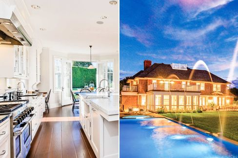 Kitchen and pool in the 9,000-sq.-ft., $7.85 million home.