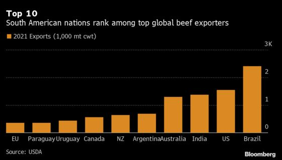 Global Shipping Woes Squeeze More South American Beef Exporters