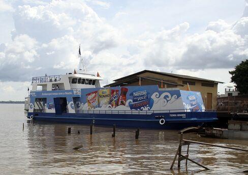Nestle's supermarket boat
