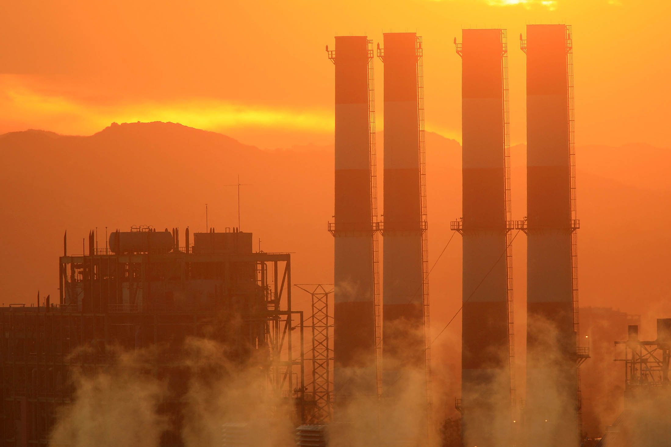 A power plant in Sun Valley, California.