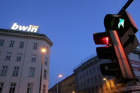 An outdoor advertisement for Austrian online betting company bwin Interactive Entertainment AG in Vienna, Austria, on Saturday, September 30, 2006.