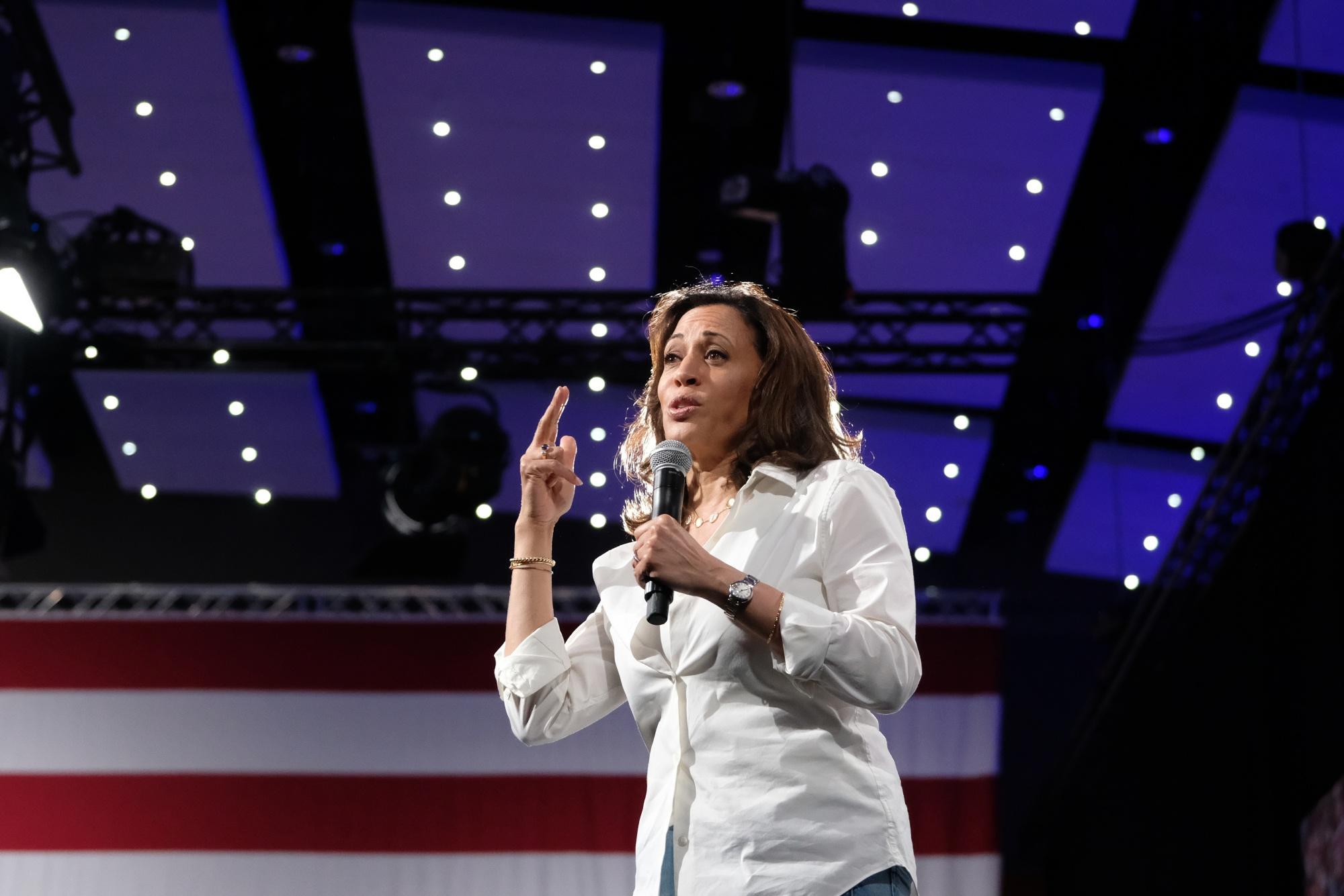 Kamala Harris Offers Her Plan On Gun Sales Domestic Terrorism Bloomberg