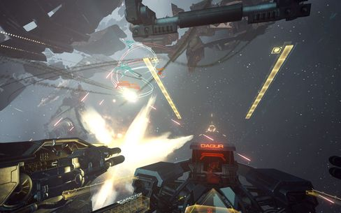 A screenshot from the upcoming virtual-reality game Eve: Valkyrie.