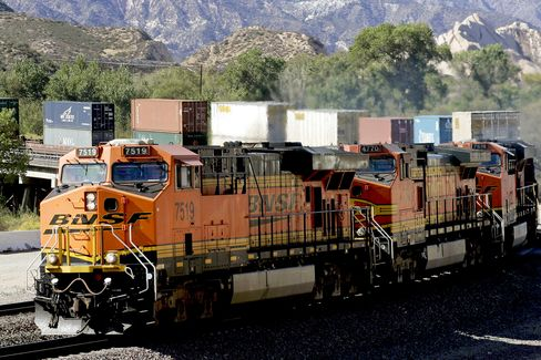 Rail-Freight Surge Before Holiday
