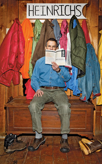 The rhetorician in the mudroom of his New Hampshire home