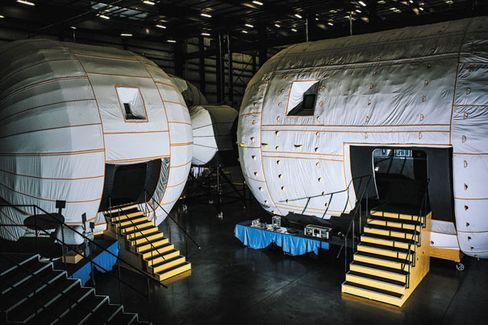 Full-scale mock-ups of Bigelow modules