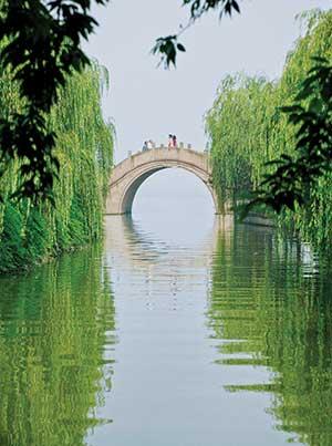 Centuries-old stone bridges dot Hangzhou's West Lake