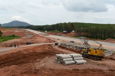 The Sumatra toll road project in Lampung.