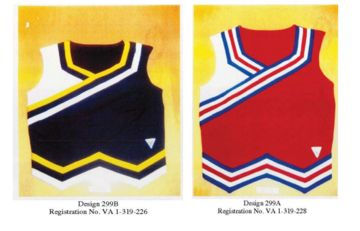 Two of the disputed Varsity designs.