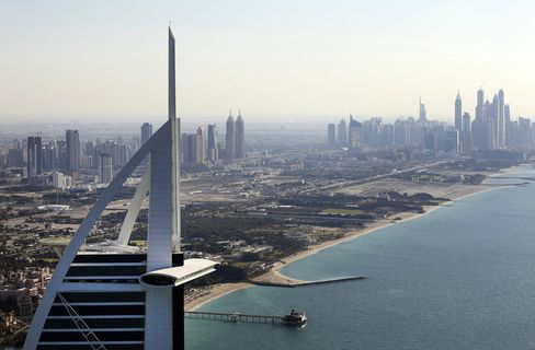 Helicopter Views Of Dubai City Skyline
